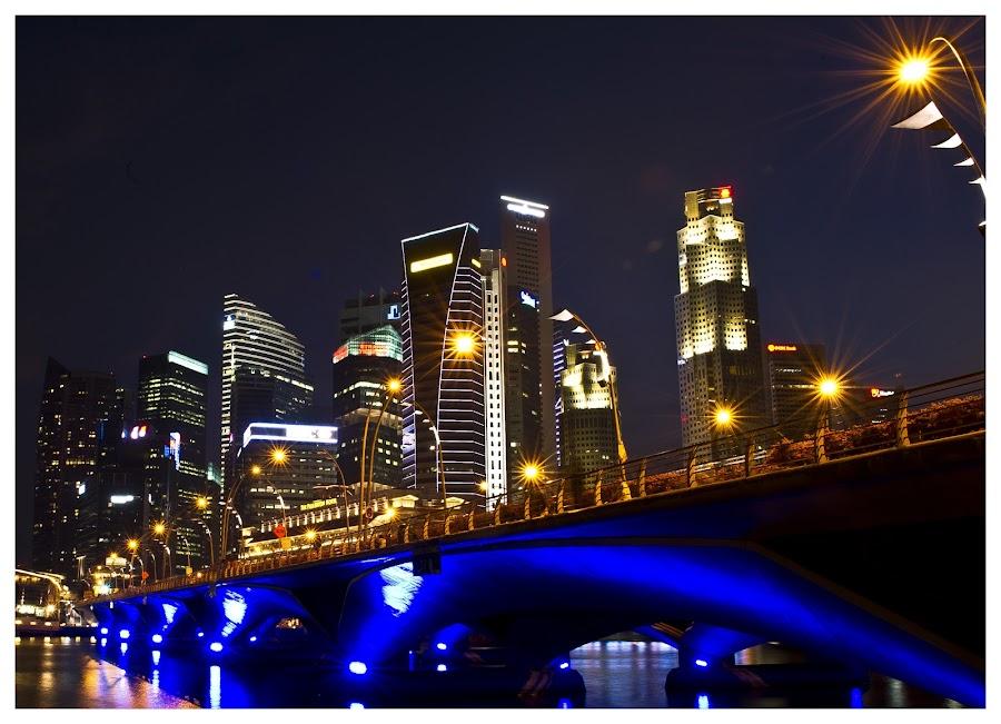 Skyline by Joydeep Sen Chaudhuri - City,  Street & Park  Skylines ( skyline, bridge, singapore )