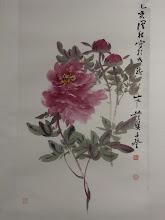 Photo: 牡丹(1995) 時年69歲  100 x 53cm