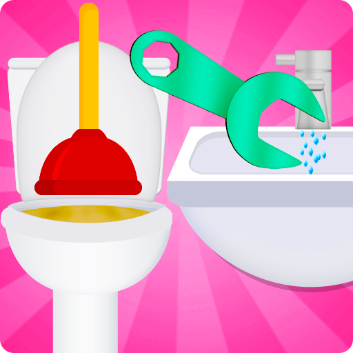 toilet and bathroom cleaning game