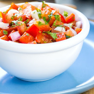 Simplest Raw Food Salsa.