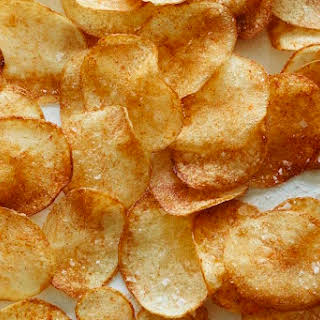 Homemade BBQ Potato Chips.