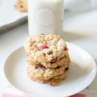 Strawberry Chocolate Chip Breakfast Cookies.