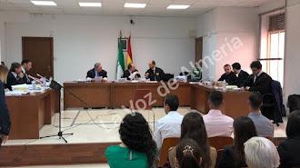 Los acusados en el juicio en la Audiencia de Almería