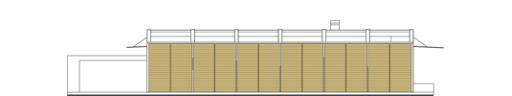 Frame z wiatą - Elewacja boczna