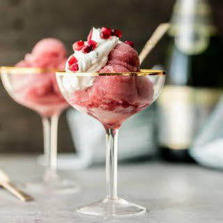 Pomegranate Champagne Sorbet.