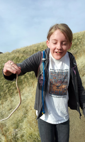 Photo: When we find snakes we always pick them up and hold them.  (Unless they're poisonous, of course.)