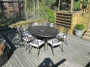 Photo: 10 seater aluminium garden furniture set -http://www.outsideedgegardenfurniture.co.uk/Cast-Aluminium-and-Metal-Garden-Furniture/Oval-Tables/Oval-10-Seater-Garden-Set.html