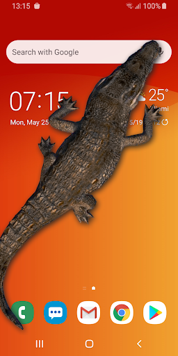 Crocodile in Phone Big Joke: capturas de pantalla de iCrocodile 1
