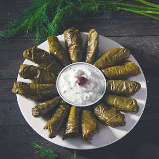 Dolmadakia - Greek-style stuffed vine leaves