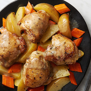 Slow-Cooker Lemon-Thyme Chicken with Carrots and Potatoes Recipe