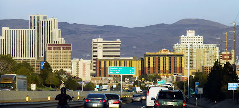Photo: Downtown Reno makes quite an entrance from the freeway. Good job with the photo, Dulce