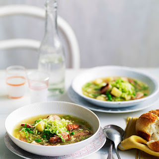 Speck, Cabbage And Pea Soup.