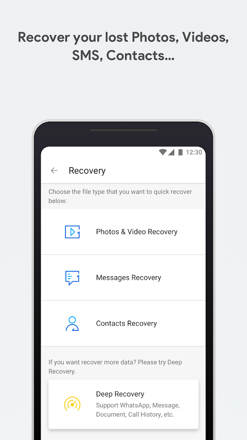 dr.fone - Recovery & Transfer wirelessly & Backup: screenshot