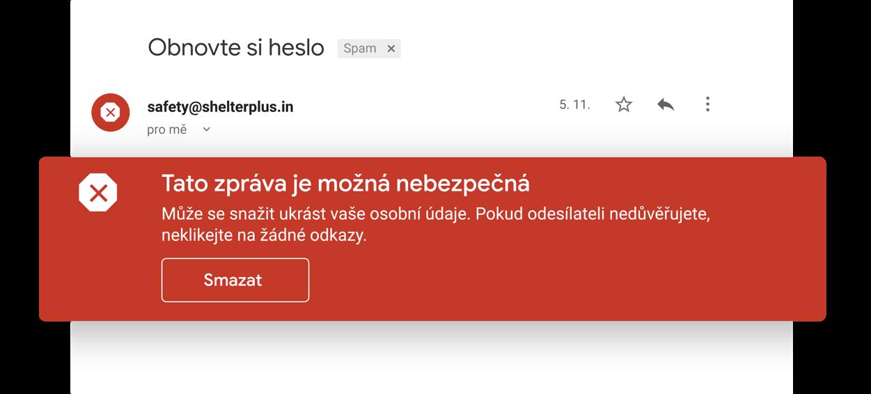 Vyhněte se podezřelým e-mailům