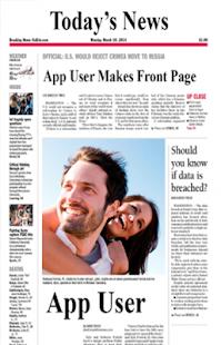 Newspaper photo frame - náhled