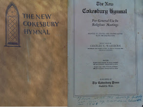 Photo: Cokesbury Hymal that was used 1940 in Time Capsule at Canaan http://CanaanUMC.net