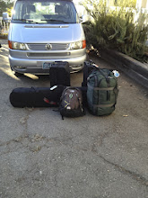 Photo: Bags and our VW Van. We're going to see a lot of these in Chamonix area.