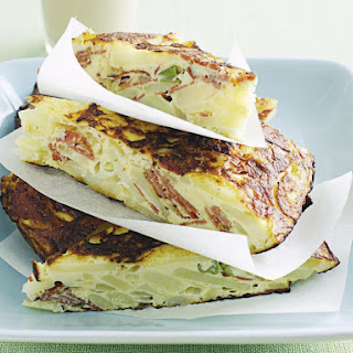 Potato and Pastrami Spanish Tortilla