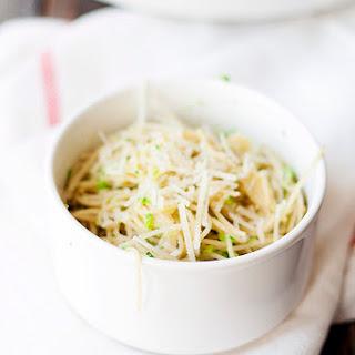 Capellini with Broccoli Pesto.