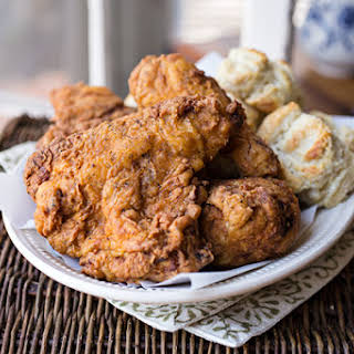 """""""Colonel Cozy's"""" Double-Dredged, Extra Crispy, Buttermilk Fried Chicken with 12 Herbs & Spices."""