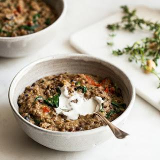 One Pot Italian Quinoa and Lentils.
