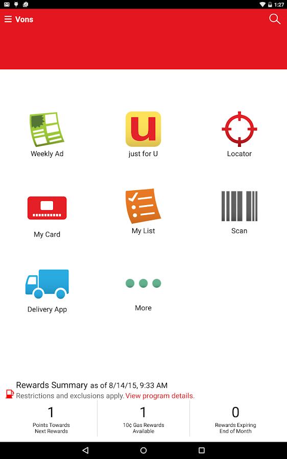 Vons- screenshot