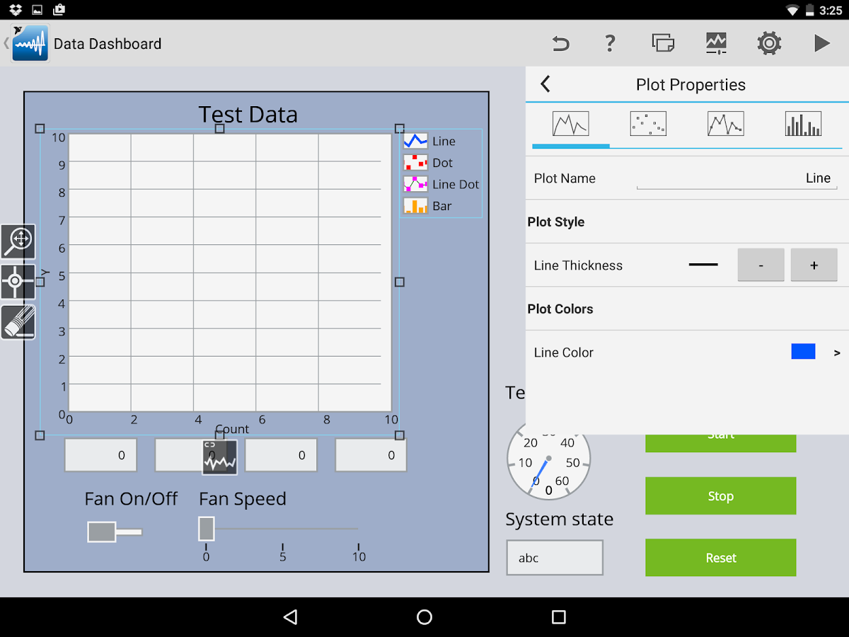 Data Dashboard for LabVIEW- screenshot