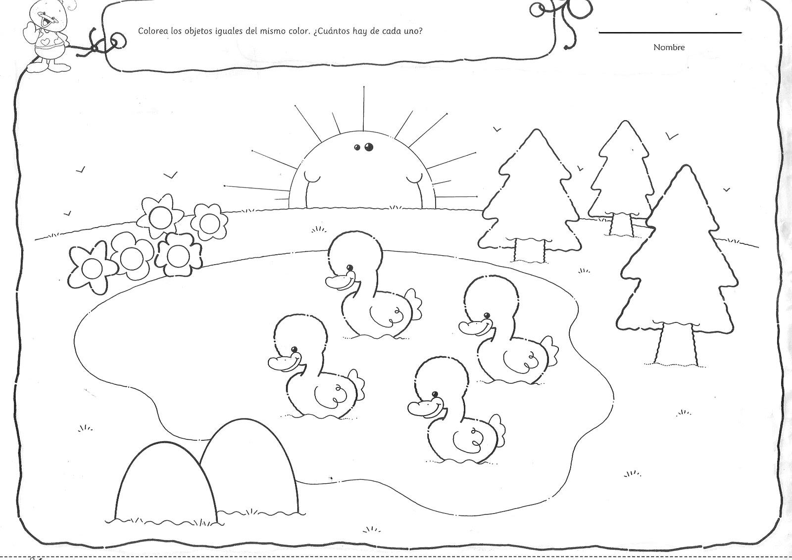 Increíble Escena De La Naturaleza Para Colorear Festooning - Dibujos ...