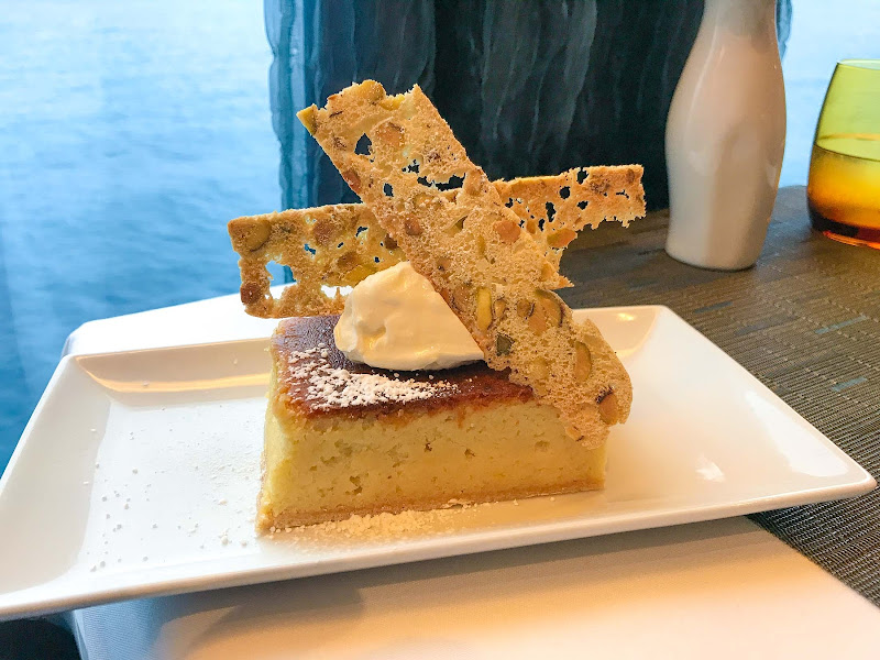 Save room for dessert! A lemon tarte at specialty restaurant Canaletto on ms Oosterdam.
