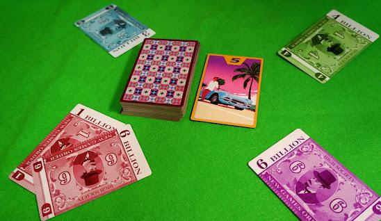 ハイソサエティ:所持金カードを出す
