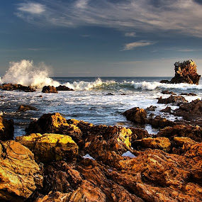 Rocky Explosion by Doug Redding - Landscapes Beaches ( douglas redding, hdr, california, ocean, beach )