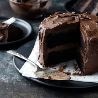 Ultimate Chocolate Cake with Fudge Frosting.