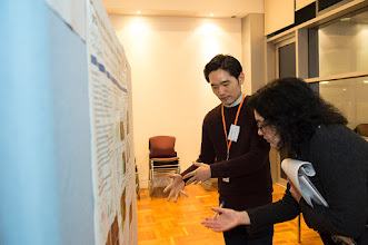 Photo: Jay Young Lee explaining his poster to Prof Jennifer Wilkinson-Berka, one of the poster judges. http://www.med.monash.edu.au/cecs/events/2015-tr-symposium.html