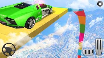 Police Mega Ramp Car Stunts 3d Driving Car Games