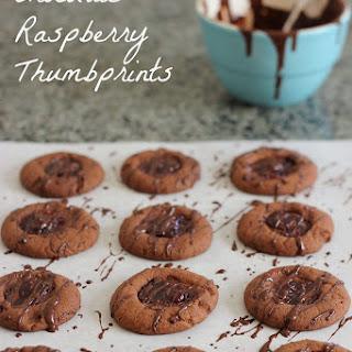 12 Chocolate Raspberry Thumbprints