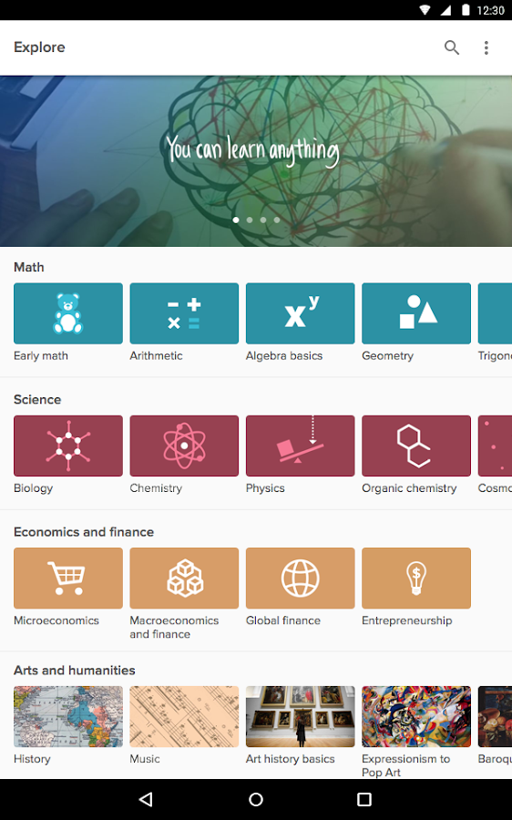 khan academy android apps on play