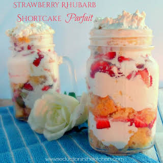 Strawberry Rhubarb Shortcake Parfait.