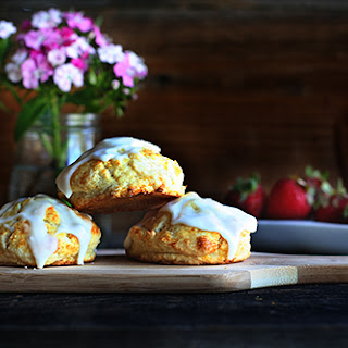 Recipe for Iced Lemon Scones