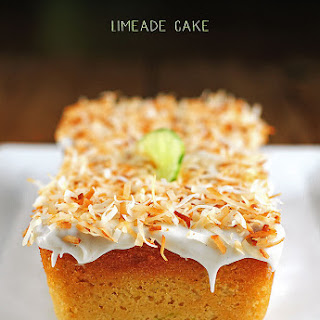 Limeade Cake with Vanilla Frosting and Toasted Coconut