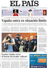 Photo: España entra en situación límite, Estados Unidos revive el horror del tirador solitario y luz verde a la primera terapia génica para humanos, en la portada de la edición nacional del sábado 21 de julio de 2012 http://srv00.epimg.net/pdf/elpais/1aPagina/2012/07/ep-20120721.pdf