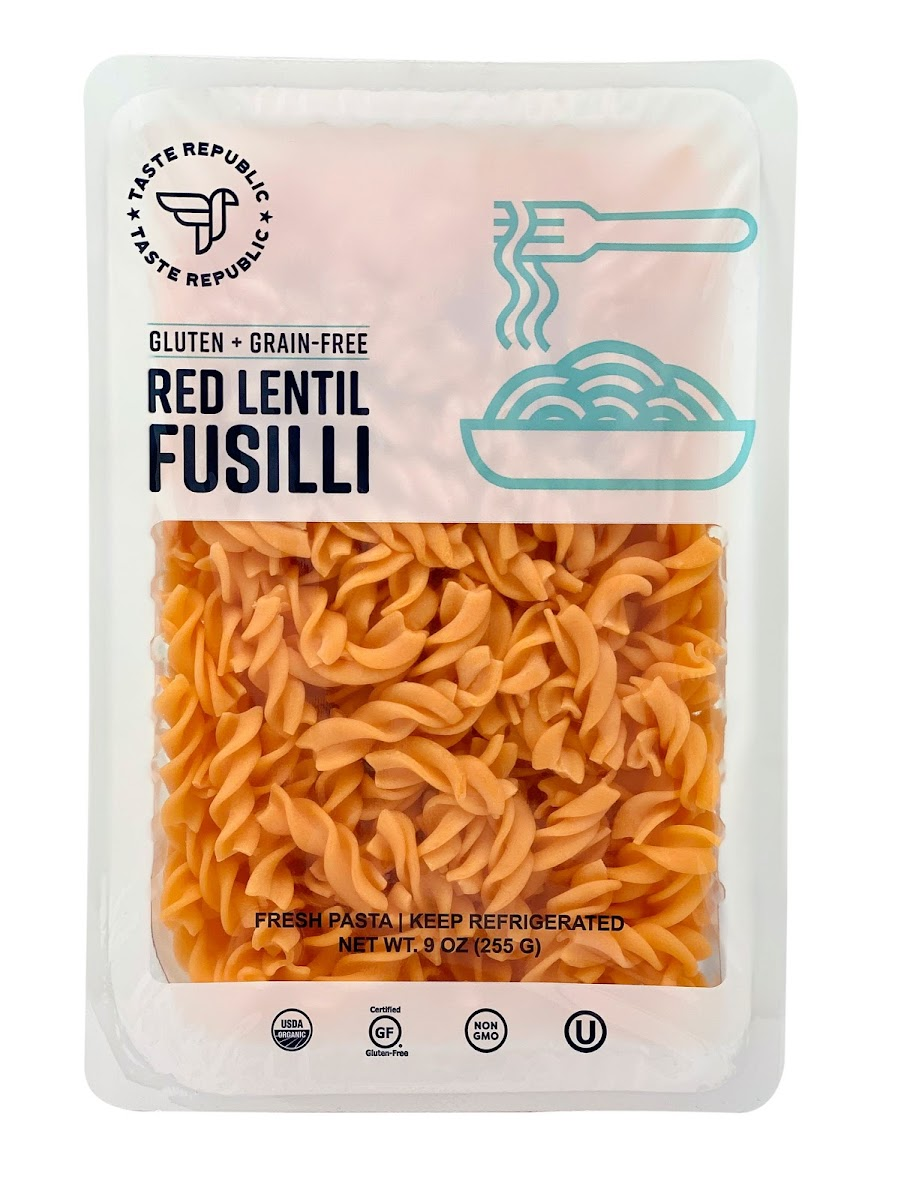 Organic Gluten-Free Red Lentil Fusilli