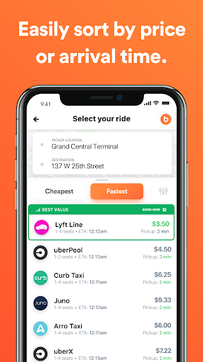 Bellhop - Get the fastest and Cheapest Rides 2.53 screenshots 2