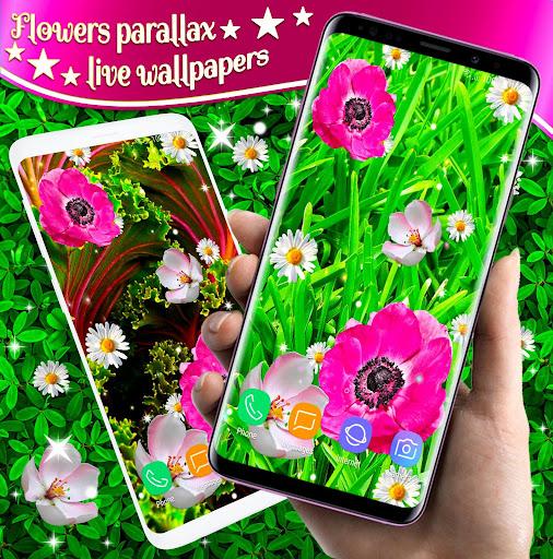 Pink Flower Live Wallpaper 🌺 Parallax Wallpapers ss2