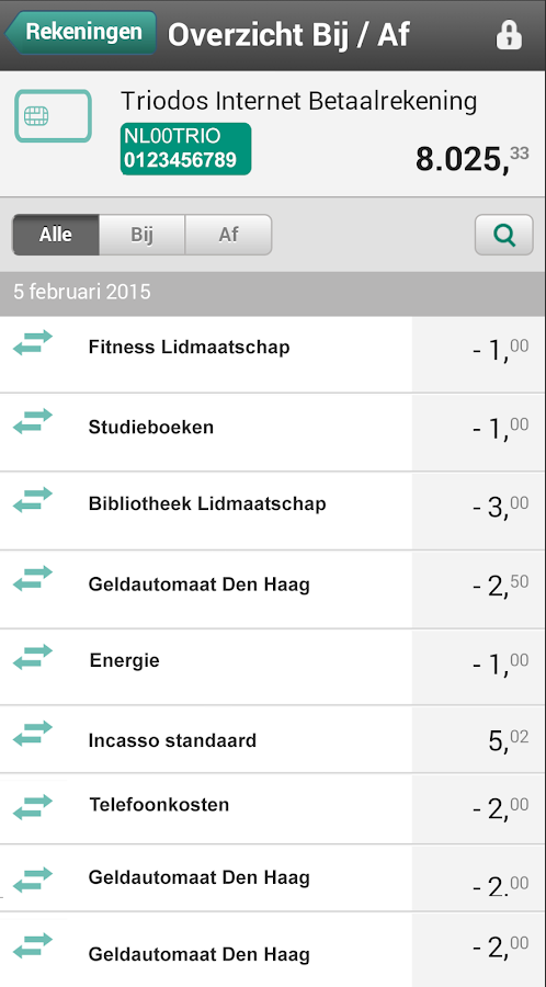 Triodos Bankieren - screenshot
