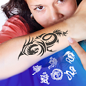 Tattoo Design and Name ink Tattoo On Photo icon