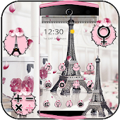 Eiffel Tower Theme Pink Black
