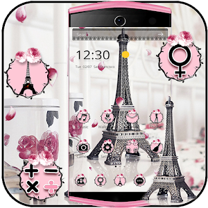 Eiffel Tower Theme Pink Black for PC