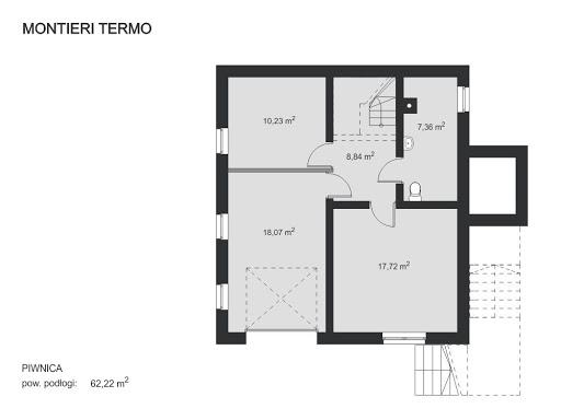 Montieri Termo - Rzut piwnicy