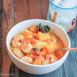 Shrimp, Pineapple and Butternut Squash Curry for a Weeknight.