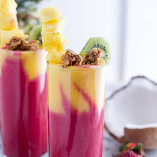 Tropical Fruit Breakfast Smoothie..